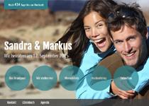 hochzeit vollbild hintergrund optimiert fr mobile gerte flexible menuplatzierung - Hochzeitshomepage Beispiele