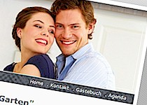 beispiel 2 - Hochzeitshomepage Beispiele